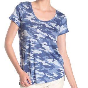 Vince Camuto Camo Scoop Neck T-Shirt, Top Medium